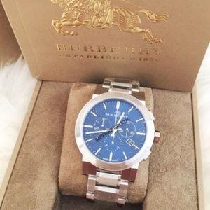 Brand New Burberry Men's Blue Dial Bracelet Watch